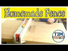 DIY Table Saw Fence for Homemade Table Saw - YouTube