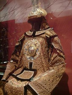 Qing Dynasty ceremonial brigandine armour.