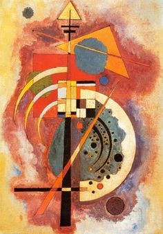 """""""Hommage a Grohmann"""" by Wassily Kandinsky is one of his most well known paintings. Will Grohmann - a German art historian, art critic and art historian, considered the 'godfather of modernism.' He specialized in German expressionism and abstract art. Wassily Kandinsky, Art Abstrait, Art History, Find Art, Buy Art, Framed Art, Framed Prints, Abstract Art, Art Prints"""