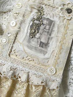 Shabby Chic Inspired: wooden framed collage
