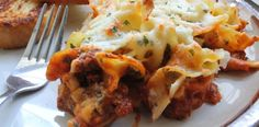 Easy Egg Noodle Lasagna - take maybe 45 minutes from start to finish (15 minutes to cook noodles and brown beef) . Partner with salad. Make salad while this is baking  Use ricotta instead of cottage cheese