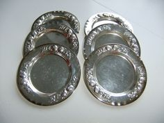 Vintage Swedish set of six silver plated coasters by NilsJohan Sweden by AnnChristinsVintage on Etsy