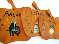Hand Painted Country Kitchen Cutting Board Decor 3