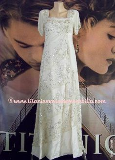 """Titanic (1997), TITANIC – """"ROSE'S CRYSTAL GOWN (a.k.a. 'Heaven Dress')""""."""