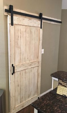 barn doors in the house two panels inspired by barn doors then stained them black Treatment Projects Care Design home decor Barn Door Closet, Diy Barn Door, Diy Door, Barn Door Hardware, Room Closet, Barn Door For Bathroom, Barn Door Decor, Diy Sliding Barn Door, Home Renovation