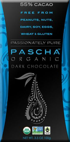 Pascha Organic chocolate is made in a peanut-free, tree-nut-free facility and is also gluten-free, dairy-free and soy-free.