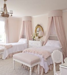soft pink and white and gold baby room - Google Search