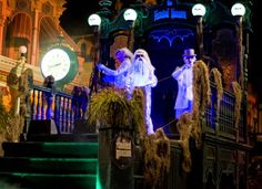 Haunted Mansion float during the Boo-To-You Parade, at Mickey's Not So Scary Halloween Party, Magic Kingdom, Walt Disney World