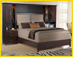 Oxford Queen Headboard Pier Wall Unit Bedroom Bedroom Wall Units within measurements 1500 X 1440 Wall Unit Bedroom Furniture Sets - In case you happen to Platform Bedroom Sets, Bedroom Sets, Bedroom Design, Modern Murphy Beds, Bedroom Wall, Bedroom Furniture Sets, Bedroom Wall Units, Interior Design Bedroom, Wall Unit