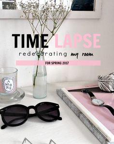 ROOM DECOR - INTERIOR DESIGN TIME LAPSE Redecorating my Room for Spring 2017 - Tumblr Inspired - DECOR HACKS - minimal minimalist interior decor - bedroom