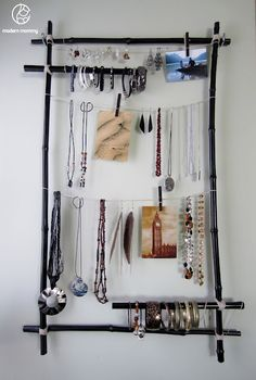 Bamboo Frame Jewellery Display