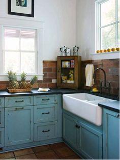 oude keukenkastjes schilderen blauw - Google zoeken