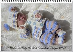 """Cosy Autumn Suit 8-13"""" dolls-knitting pattern, doll, reborn, suit, hat, boots, jacket, trousers, babydoll handknit designs"""