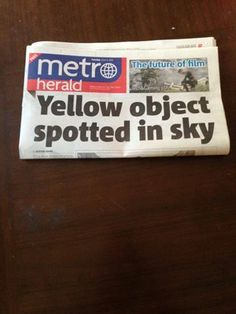 You can tell that us Irish arent used to the summer when this is our newspaper headlines...