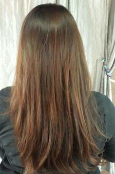 Lovely #LongLayered Hair by Lauren at our Belknap location. #SalonPurple