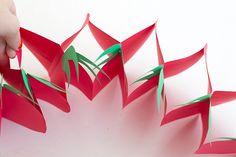 DIY Foldable Paper Strawberry Garland