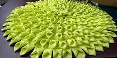Artesanato Fofo: Tapete de retalhos de seda