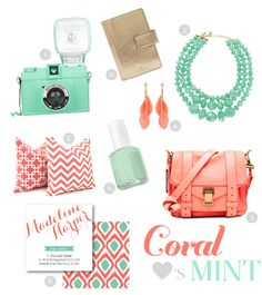 Color ideas:  mixing my coral necklace with the new mint pants.  Also gray with the mint pants!