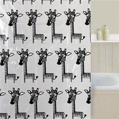 Aqualona Ziraffe Peva Shower Curtain - via http://bit.ly/epinner