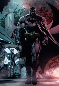 Batman & Catwoman - Art by Jim Lee Batman And Catwoman, Im Batman, Batgirl, Superman, Batman Hush, Batman Stuff, Gotham Batman, Batman Robin, Marvel Comics
