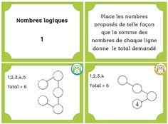 Cartes à tâches : nombres logiques 1