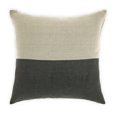 Aura cushion - Dipped cushion in Charcoal 50cm