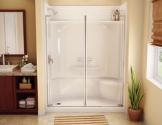 """One Piece Shower Stall - http://www.digiscotsolutions.com/one-piece-shower-stall/ : #BathroomDécor The term """"one piece shower stall"""" unit is a misnomer. Actually, there are four parts to the basic shower unit. A base or drain pan unit, and one wall. Installing a one-piece shower can be very simple, if everything fits. It may also require some major remodeling efforts if the shower units ..."""