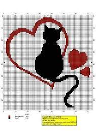 Resultado de imagem para graficos de ponto cruz barrados gatos                                                                                                                                                     Mais