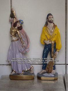 Casal de ciganos 30 cm ArtCunha Imagens - Fabrica, Restaura e Modifica. Est. Bandeirantes, 829, #Taquara, #Rio de Janeiro, #RJ. Tel: (21) 2445-1929 / 8558-3595. #Cigana #Cigano #Ciganas #Ciganos #PovoCigano #Roma #Gitano #Gitana #Artesanato #Gesso #ArtCunha #Decoracao #Gitanos #Gitanas #Calo #Boemio #Boemia #RioDeJaneiro #Arte #Imagem #Fabrica #Restaura #Restauracao #Fabricacao