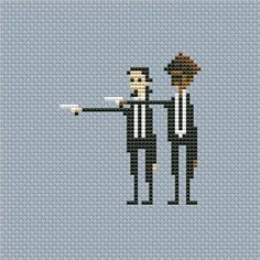 Cross stitch pattern PDF  Pulp Fiction Pixel by UAHomeMadeStudio