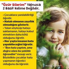"""Özür Dilerim"" yalnızca iki basit kelime değildir! Confessions, Psychology, Parents, Education, Simple Words, Child Development, I Am Sorry, Psicologia, Dads"