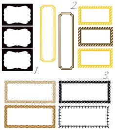 labels - printables