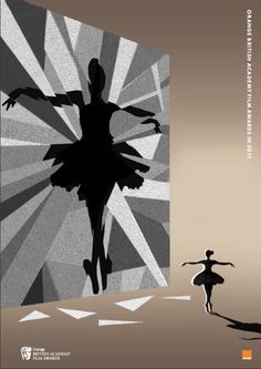 BAFTA 2011. Black swan (2010). Illustration by: Adam Simpson.   BAFTA 2011. Cisne negro (2010). Ilustração de: Adam Simpson.
