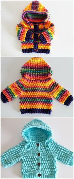 Crochet Lovely Baby Hoodie - Crochet Ideas