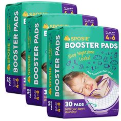 Sposie Booster Pads Diaper Doubler, 90 Count, 3 Packs of 30 Pads, No Adhesive for Easy repositioning, Fits Diaper Sizes 4-6 #baby  #babyregistry #babyessentials #WhatBabiesLove #babyproducts #babymusthave #pregnantdogideas #diapers # babies #newmoms  #parentingtips  #moneysaving  #baby  #pregnancy #mom #toys