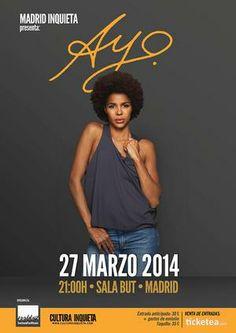 Entradas para Ayo en Madrid el 27 de marzo 2014 en notikumi