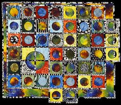 "Image of quilt titled ""PiR²"" by Bonny Brewer © 2005 ~just had to pin this due to the clever title"