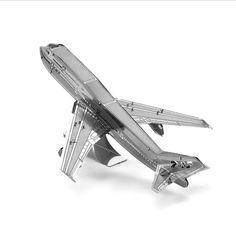 Puzzle 3D Metal Boeing 747 aircraft Model Jigsaw Brain Puzles Graf Zeppelin aircraft carrier, the Cessna Skyhawk, Wright Flyer #Affiliate