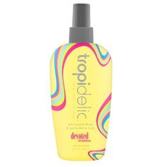 2010 Tropidelic Dry Oil Spray Tanning Oil 8 oz use Tropadelic to replace Australian Gold Dry Oil Spray that was discontinued by Devoted Creations. $12.99. Fragrance: Tropical Coconut. Goes on light and silky, not greasy, to maintain a long lasting, deep, dark tan.. The most luxurious coconut water, jojoba amino acids and vitamin E will help keep skin nourished, moisturized and healthy.. 8 oz. Goes on light and silky, not greasy, to maintain a long lasting, dee...