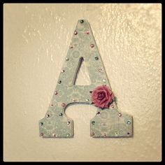 Cupcakes & Couture: DIY Initial Wall Decor