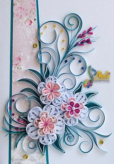 Neli is a talented quilling artist from Bulgaria. Her unique quilling cards bring joy to people around the world.Billedresultat for quillingpaper quilling letters eDiscover recipes, home ideas, style inspiration and other ideas to try. Neli Quilling, Paper Quilling Cards, Quilling Work, Paper Quilling Tutorial, Paper Quilling Patterns, Quilled Paper Art, Quilling Craft, Filigrana Neli, Quilled Creations