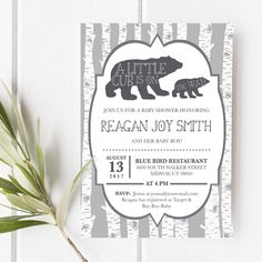 new woodland animal baby shower invitation available in the shop