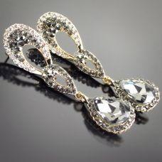 marcassite crystal earrings  $35.00