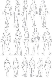 Human Figure Drawing Reference Turnaround: Posing by poplite - Human Anatomy Drawing, Drawing Body Poses, Body Reference Drawing, Human Figure Drawing, Figure Sketching, Art Reference Poses, Drawing Female Body, Sketching Tips, Body Sketches