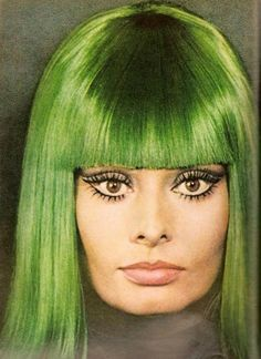 Sophia is still beautiful.  The makeup pictured here was my goal as a teen.  The green wig is still scary but the style is still sexy.
