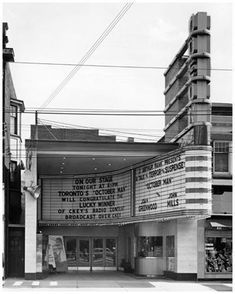 Marquee and sign of Odeon Danforth Theatre near Pape -- 1947 Toronto Toronto Ontario Canada, Toronto City, Old Pictures, Old Photos, Batman Art, Local History, Vintage Movies, Childhood Memories, Trains
