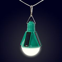 Nokero solar light bulb....great for camping!  These will charge your AA batteries on a day