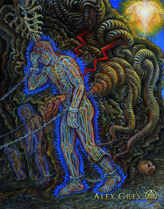 Endarkenment 1997, acrylic on linen, 16 X 20 alex grey