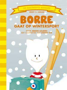 'Borre gaat op wintersport' - Borre mag met Radijs en haar ouders mee op wintersportvakantie. 'Zul je niet thuiskomen met een gebroken been?' vraagt z'n moeder een beetje bezorgd. 'Nee, natuurlijk niet, mama,' stelt Borre haar gerust. 'Ze hebben daar sneeuw. Dat is lekker zacht als je valt.' Maar eerst hebben ze nog een lange reis te gaan. (tekst: Jeroen Aalbers, illustraties: Stefan Tijs)