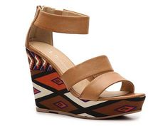 Chinese Laundry Ines Printed Wedge Sandal Women's Wedge Sandals All Women's Sandals Sandal Shop - DSW